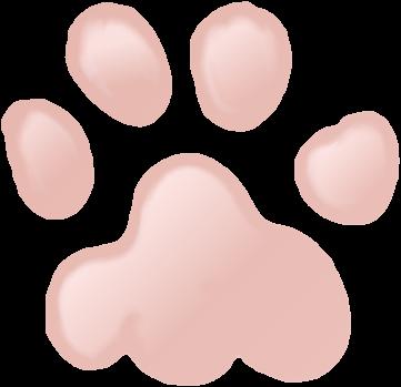 Katzenpfote gezeichnet mit Stift am Touchscreen in Gimp